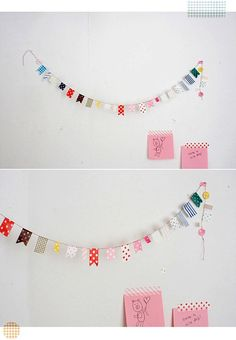 Cute banners or bunting for candy buffet or party.