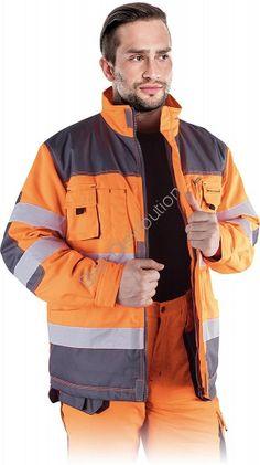 Pomarańczowa zimowa kurtka ostrzegawcza LH-FMNWX-J_PSB