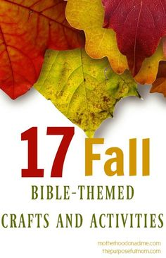 Autumn is my favorite season of the year! I love all the crafts and activities that I can do with my kids during the fall. I thought I'd share with you some ideas for incorporating Bible truths with fall-themed crafts! Find 17 Fall Bible-themed crafts and activities in my contributor post at Motherhood on a …