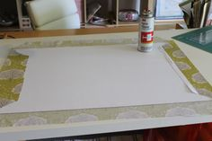DIY Fabric Desk Pad / Desk Blotter | Pretty Prudent