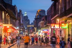 New Year, New Vacation: Top US Destinations in 2018 - Read and find the whole list!  New Orleans, LA, street, night, market