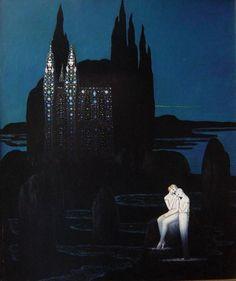 Yellow Art, Blue Art, Tender Is The Night, Dreams And Nightmares, Macabre Art, Sky Art, Classical Art, Artist Art, Cool Art