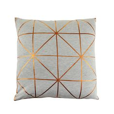 Update your sofa with this Bronze Diagonal Print cushion from Bloomingville. The contrasting elements of the bold copper pattern against the simple grey background make it a beautiful piece that wi...