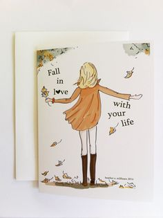 Autumn  Encouragement Card  Feel Good Card by RoseHillDesignStudio