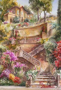 'Lago di Bracciamo Stairway'