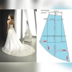 Wedding Dress Sewing Patterns, Skirt Patterns Sewing, Blouse Patterns, Doll Clothes Patterns, Clothing Patterns, Circle Skirt Pattern, Gown Pattern, Skinny Wedding Dress, Costura Fashion