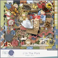 In the Park Page Kit #GDS #pattybscraps #digitalscrapbooking