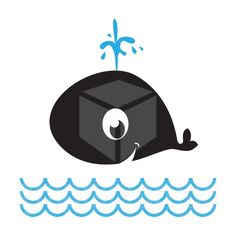 Baby whale vector illustration.