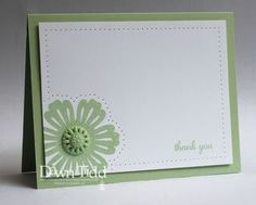 Cards for a gift....use a color run, like the pierced dots