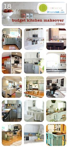 18 Budget Kitchens Makeover Ideas - 3rd column, 2nd from the bottom.