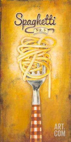 Spaghetti Art Print by Elisa Raimondi at Art.com