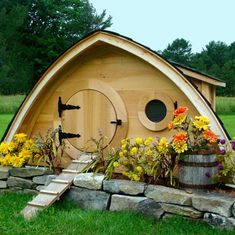 Hobbit Homes  I saw these small structures on youtube and they can serve all types of functions , use your imagination .