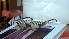 """Spotted at a store in my neighborhood: this amusing pair of """"awning"""" sunglasses by designer Elsa Schiaparelli.  Apparently she only designed Surrealist sunglasses for a year or so in the late 1940s - I WANT."""