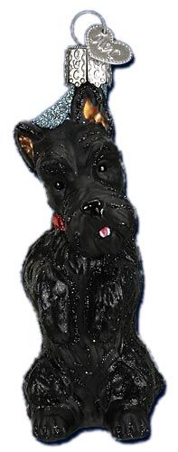 Scottish Terrier | Scottie Dog Ornament | Old World Christmas Glass Ornaments