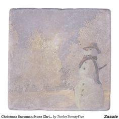 Christmas Snowman Stone Christmas Coaster Stone Coaster