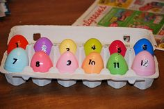 12 days before easter...each egg has a part of the Easter story