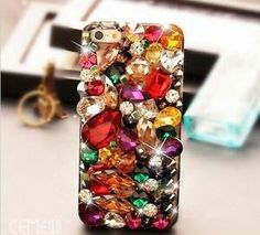 Colorful bejewled iphone case