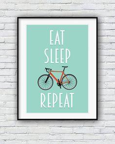 Affiche de bicyclette vélo impression cyclisme par Redpostbox