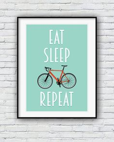 Bicycle poster, Bike print, cycling poster, Bicycle art, Quote poster, Bike art…