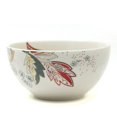 Another great find on #zulily! Floral Henna Porcelain Bowl - Set of Four #zulilyfinds