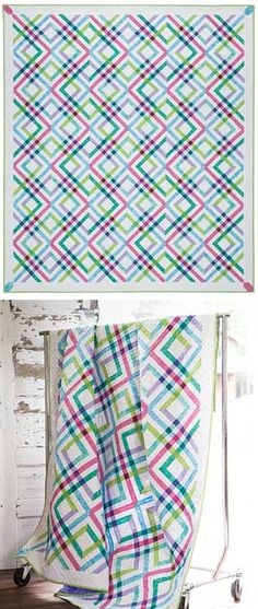 PLAID QUILT KIT - just one block