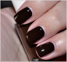 """Essie """"Little Brown Dress"""" - now that's a brown I like, it's so dark it's almost black"""