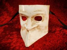 Venetian traditional  Bauta mask in white | magical masquerade