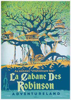 Affiches des attractions de Disneyland resort Paris