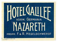 Israele - Nazareth - Hotel Galilee by Luggage Labels