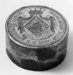 Sealstamp with the coat of arms of Princess Sophia Albertina of Sweden (1753-1829).