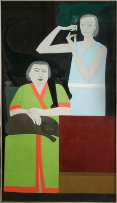 Will Barnet---Two-Sisters, 1965, oil on canvas  -AF