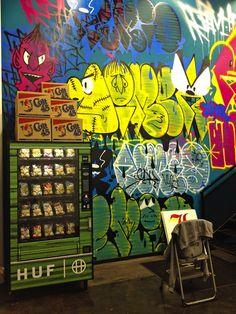 Sock vending machine at HUF's LA pop-shop