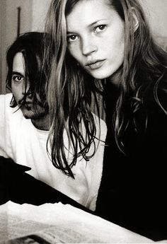 Johnny Depp & Kate Moss. François-Marie Banier. 1994.