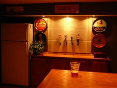 Through wall beer taps