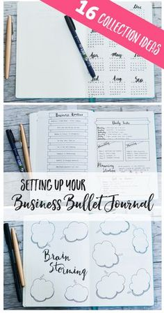 Setting Up My Business Bullet Journal