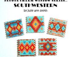 Julie Ann Smith Designs PEYOTE CHARM by JULIEANNSMITHDESIGNS