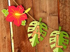 Tiki Luau Hawaiian Party Aloha Banner by PaperPartyParade Aloha Party, Hawaiian Luau Party, Hawaiian Birthday, Hawaiian Theme, Tiki Party, Luau Birthday, 16th Birthday, Beach Party, Moana Party