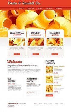 Pasta Website Template