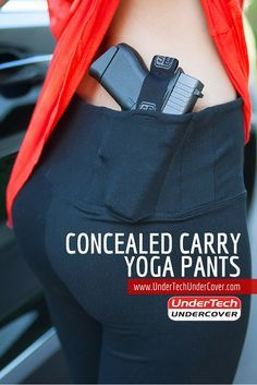 Combining the best of both worlds – yoga pants and concealed carry. The UnderTech UnderCover Concealed Carry leggings come with pre built-in holsters for both appendix carry and kidney carry. And if you're not using one or the other holster, your mobile phone will fit just like a charm! Our Concealed Carry Yoga Pants are almost capris style as the end right at the bottom of your calves. Not sure if your handgun will fit? Don't worry! All concealed carry handguns fit!
