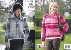 King Cole Super Chunky Knitting Pattern - Ladies Jacket & Sweater (4288) - Mill Outlets