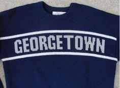 Georgetown University Hoyas Vintage Cliff Engle Sweater LRG 68a53e97b