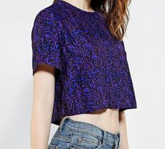 Silence & Noise Zip-Back Cropped Blouse #urbanoutfitters