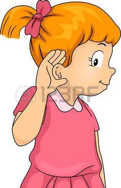 Crianças ouvindo: ...