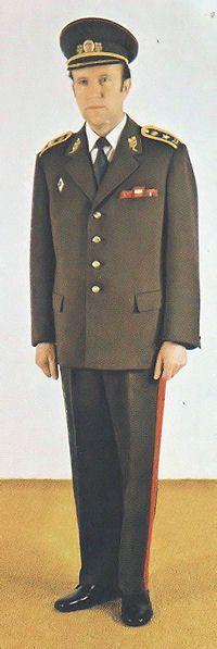 1980 pattern Czechoslovak People's Army (ČSLA) generals' summer service dress uniform.