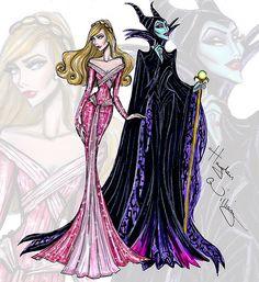Disney Haute Couture 'Princess vs Villainess' by Hayden Williams: Aurora & Maleficent