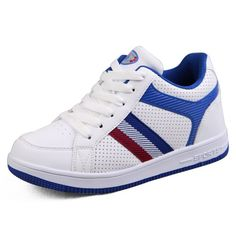 Find the best 2014 height increasing skateboard shoes add tall 6.5cm / 2.56inches white/blue casual sports shoes with the SKU:MENGOG_1389 at Topoutshoes online store