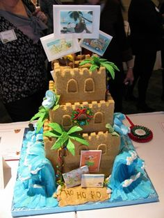 Gingerbread House sandcastle