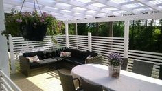 Terassimallia Deck, Privacy Screens, Patio, Outdoor Decor, Home Decor, Lawn And Garden, Decoration Home, Room Decor, Front Porches