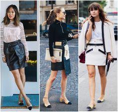 Chanel Two-Tone Slingback Shoes Looks - Aimee Song, Pernille Teisbaek, Miroslava Duma