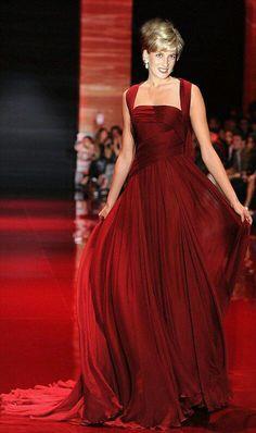 Princess Diana red dreams fashion